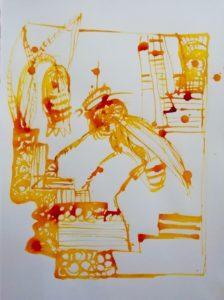 HONIG 2018, Tusche auf Papier, 40x30cm